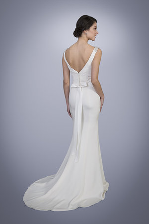 Trish Lee Marilyn V Neck Silk Wedding Dress