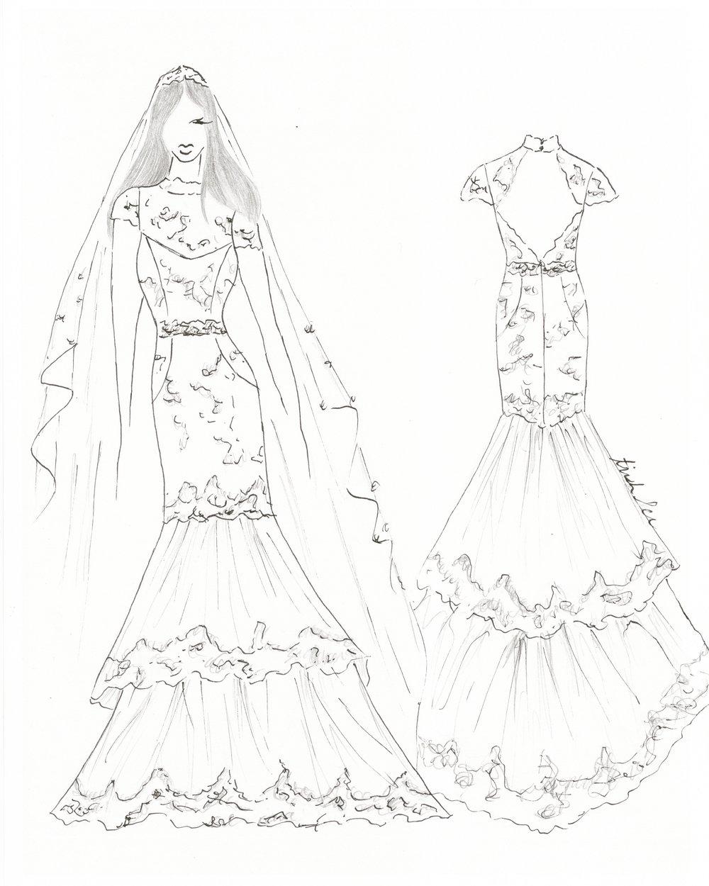 San Francisco wedding dress designer Trish Lee's vision of Meghan Markle's wedding dress
