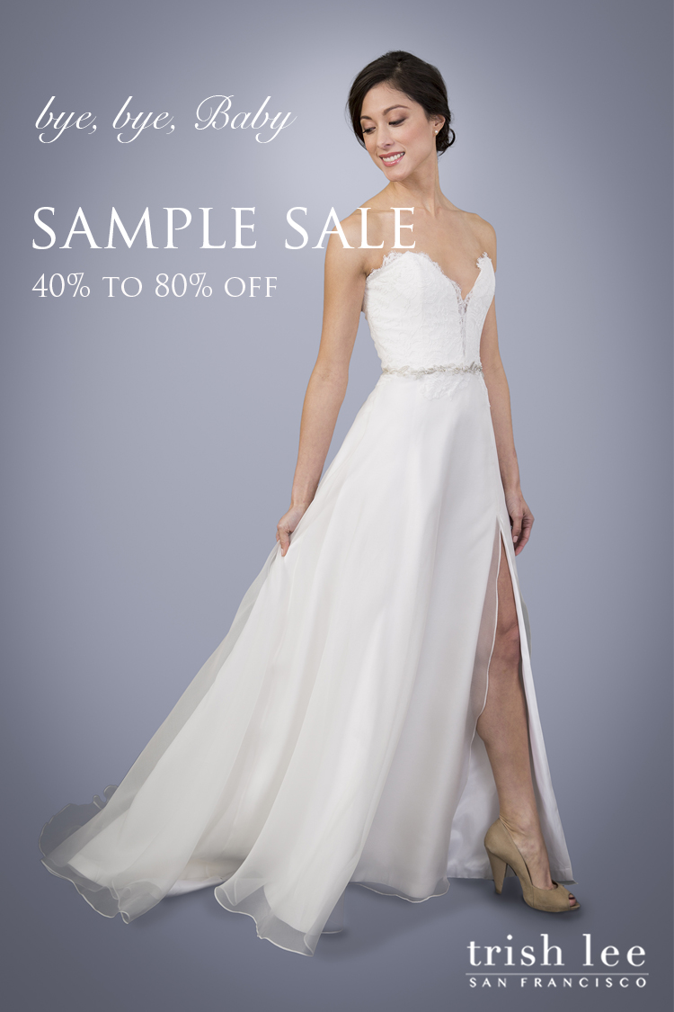 Sample gowns are 40% to 80% off regular retail of $2000 to $5000. Bridal sizes 2 - 18 available.