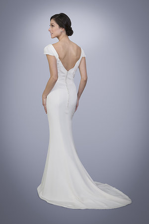 Charlotte Silk Crepe Wedding Dress With Cowl Neck Trish Lee