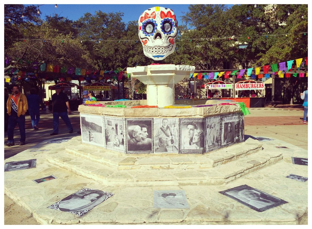 Living altar at the Día de los Muertos celebration at La Villita.