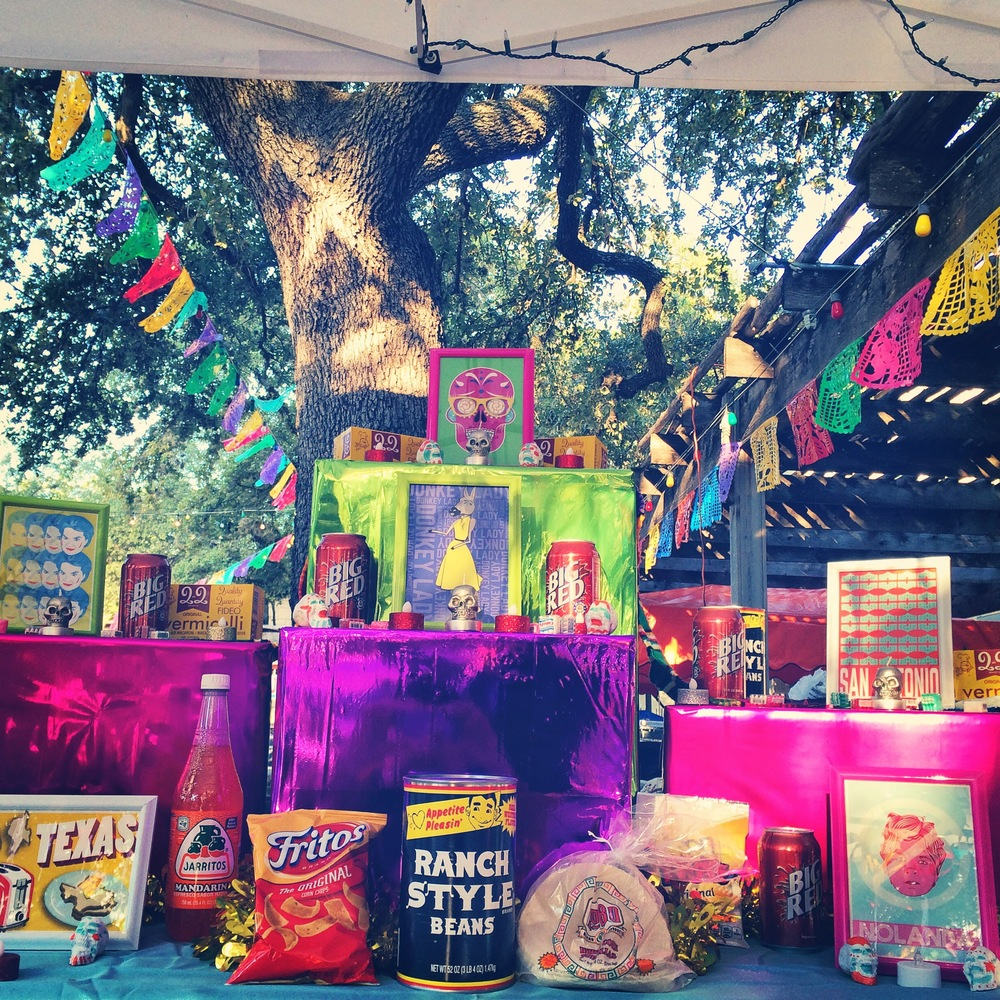 The BarbacoApparel altar at Muertos Fest.