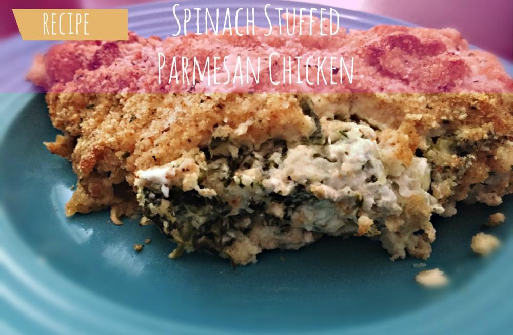 Spinach Stuffed Parmesan Chicken