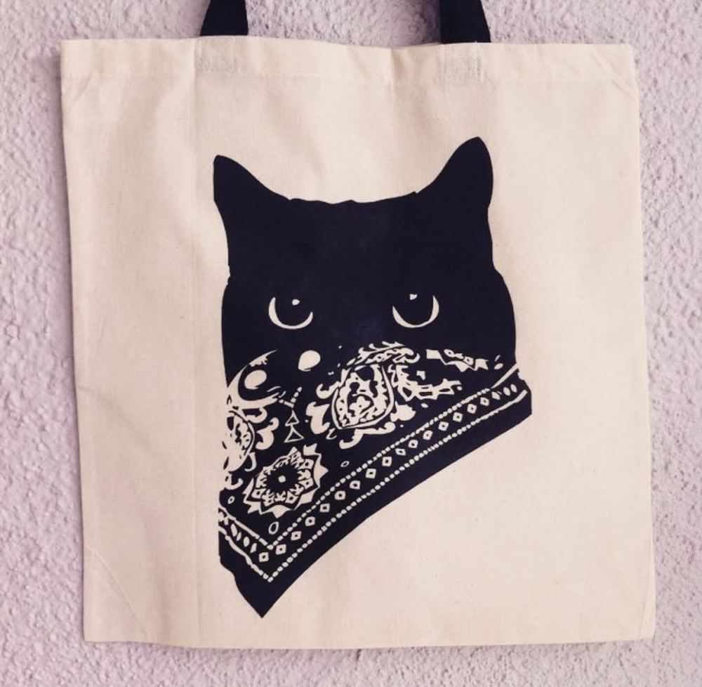 Bandit Cat tote (Photo courtesy of BAXTER.)