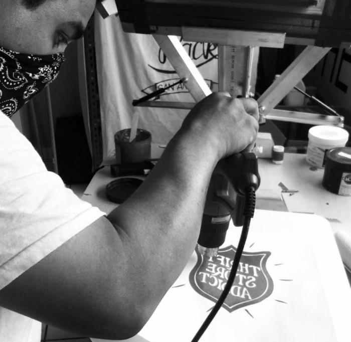 Eric Lara of BAXTER works on a design.
