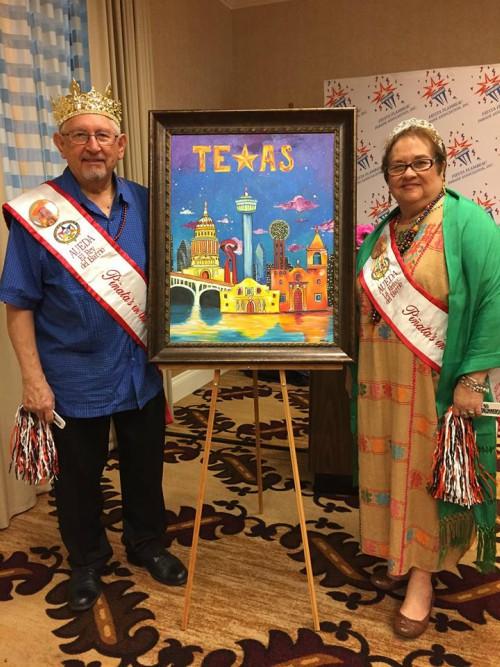 Joe De Hoyos and Gloria De Hoyos, 2015's Barrio King and Queen. (Photo courtesy:AUEDA/Pinatas in the Barrio/Facebook)