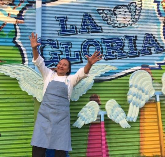 Chef Johnny Hernandez at La Gloria. (Photo: Facebook/LaGloria.)