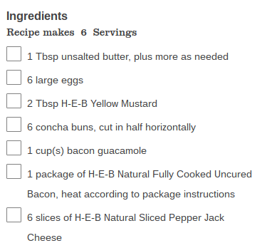 HEB's Concha Breakfast Sandwich Recipe