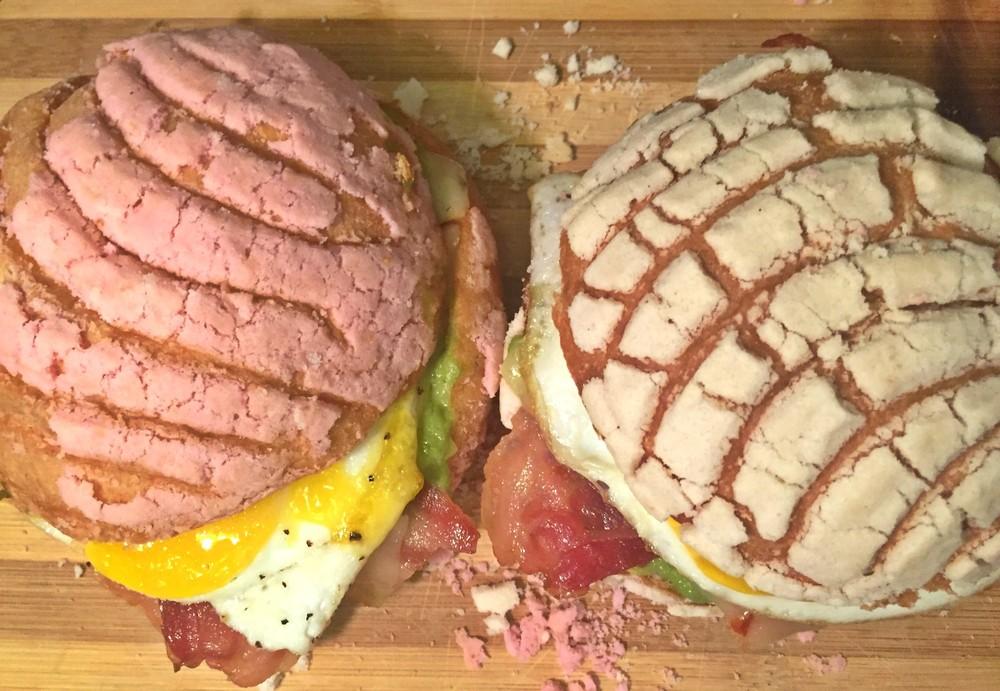 A concha breakfast sandwich? Yes, please!