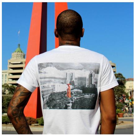"""Downtown SA"" tee by   Broseph's Goods  ."