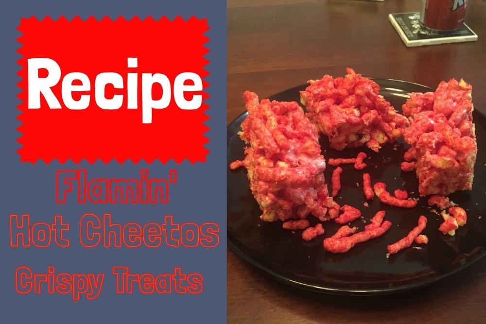 Recipe Flamin' Hot Cheetos Crispy Treats