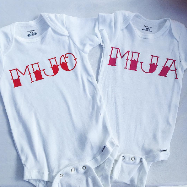 Mijo and Mija onesies (Photo: Instagram/Hermanitas_Boutique)