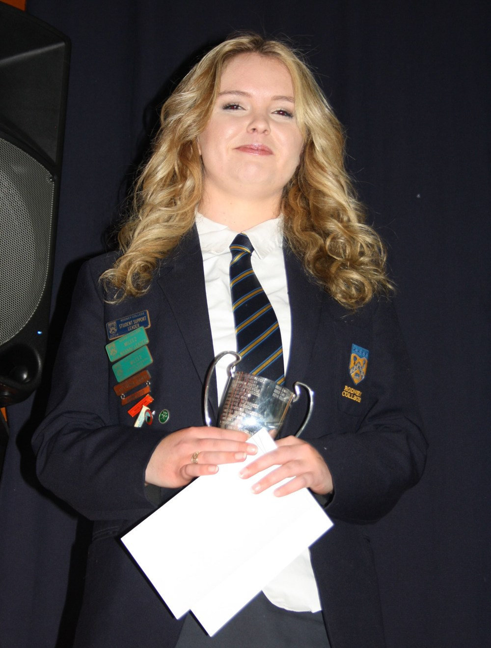 Libby Campbell, Dux for 2014 and winner of the Waikato University Golden Jubilee 50th Anniversary scholarship