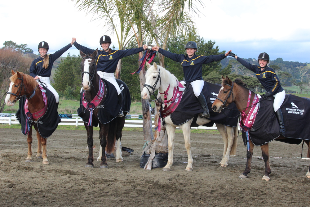 Right to Left - CHAMPION EQUESTRIAN TEAM Tamara Marshall, Jade Marshall, Briar Woolley and Aimee Young