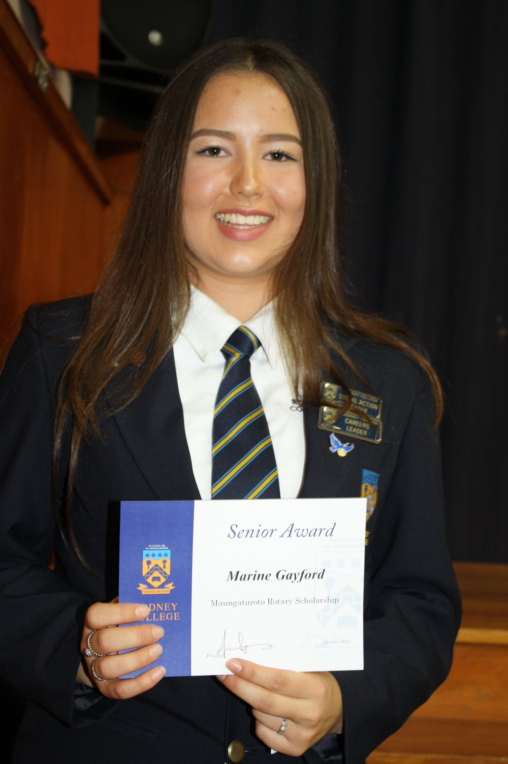Marine Gayford - winner of 3 scholarships