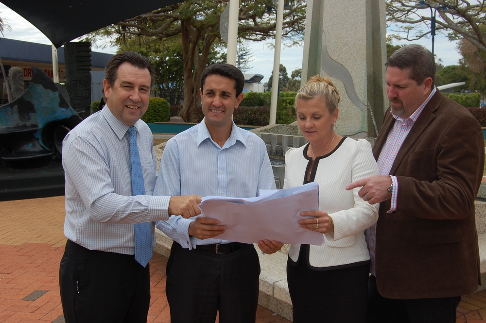 Mark Robinson MP, Hon. David Crisafulli, Mayor Karen Williams, Steve Davis MP