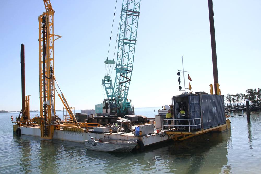 William Street ramp floating walkways construction begins