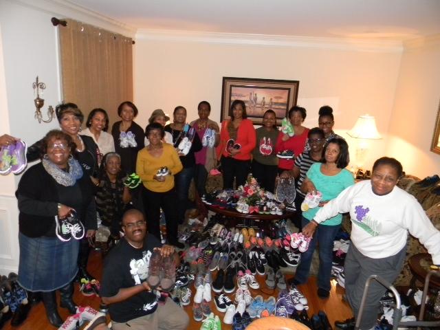 Sneaker Night at Vera Roberts' home.