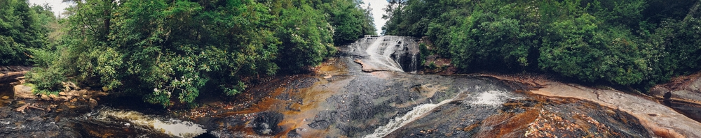 iPhone panorama of Warden Falls.