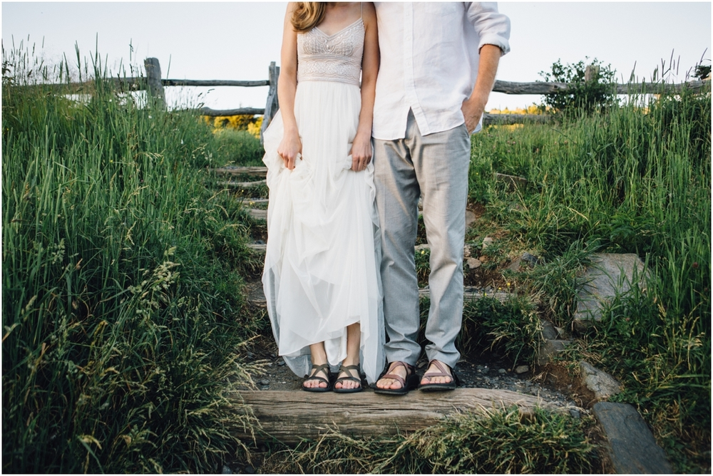 I just love that Josh's wedding shoes were Chacos!