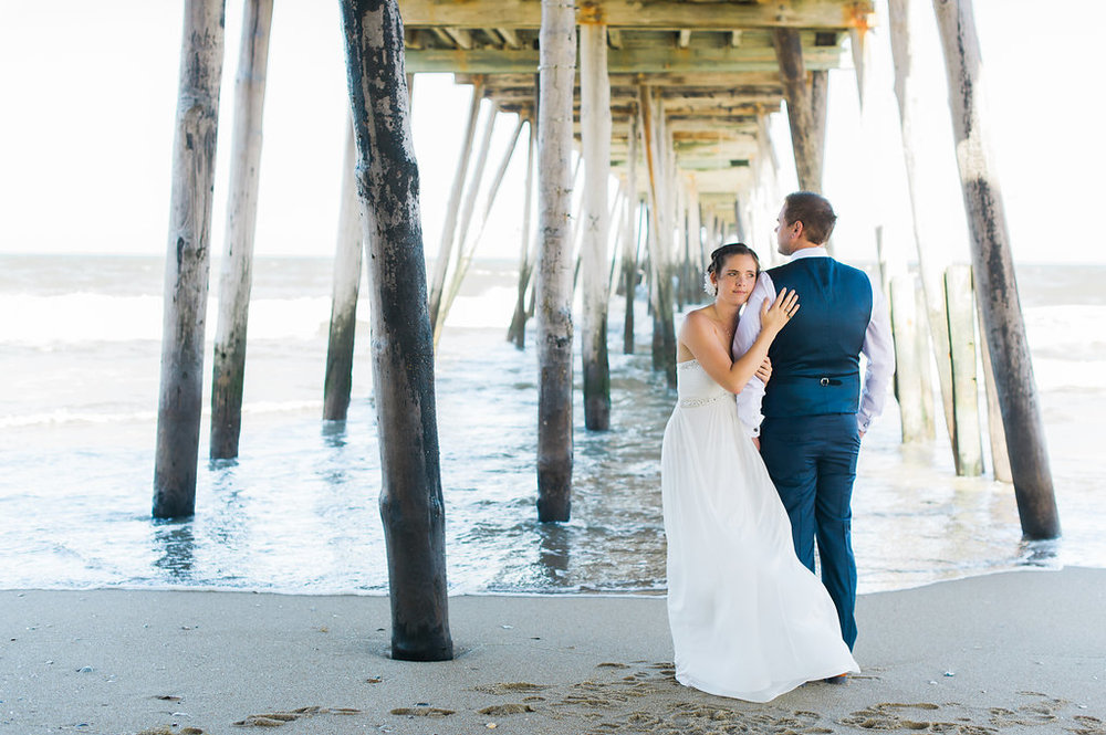 Getting married on the beach in the Outer Banks.