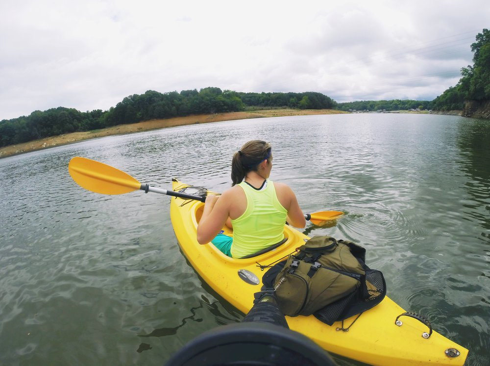 Kayaking on Boone Lake.