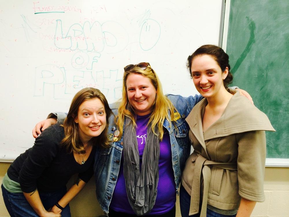 Kat Davis, Erin Ohland, Moriah Turner [L-R]