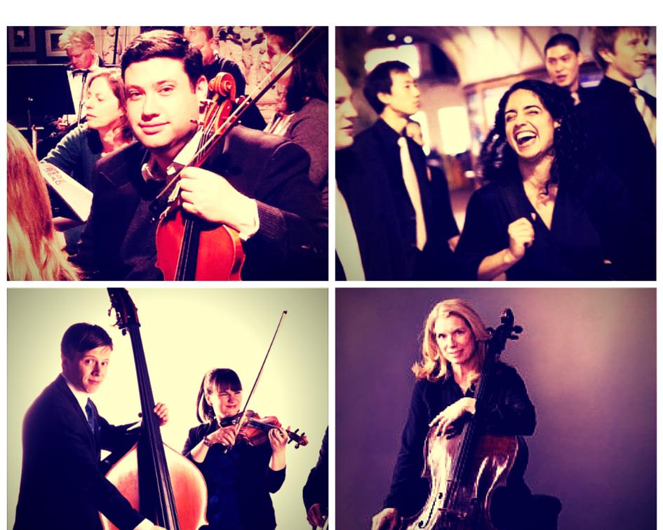Clockwise from upper left: Thomas Rosenthal, viola; Annie Rabbat, violin; Melissa Meell, cello; Liesl Doty, violin; Karl Doty, bass