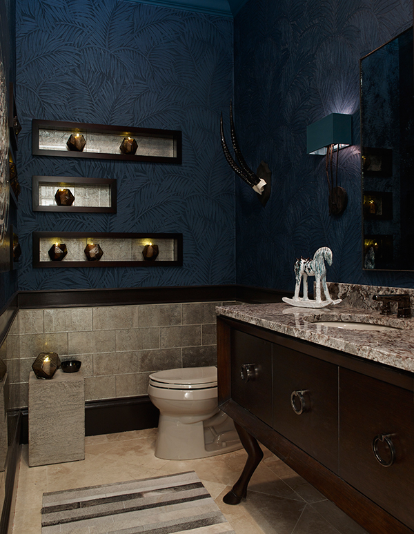 2015 atlanta symphony orchestras decorators show house and gardens, the bad girl bath ;)  lucian metallic in pewter, so damn sexy!!  photo credit emily jenkins followill