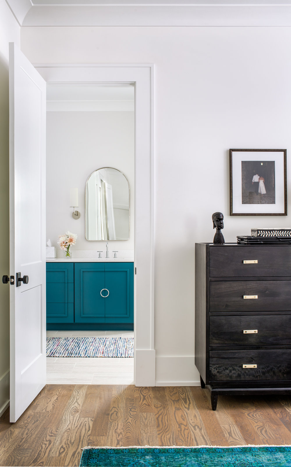 marietta master bedroom and bath | new construction | custom vanity | jeff herr photography