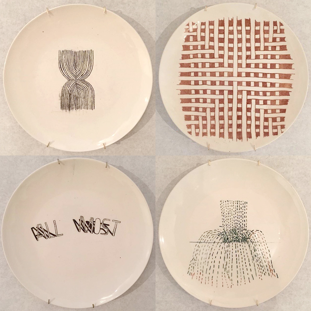 Plates by Alicia McCarthy, 2015.