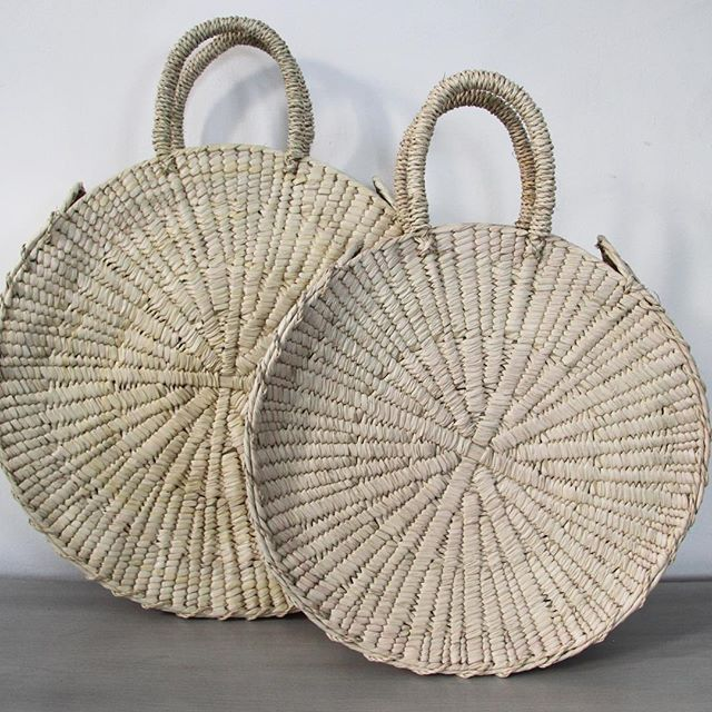 These round woven bags will only be available at #renegadecraftfair for now so come see us today and tomorrow in SF at Ft. Mason!