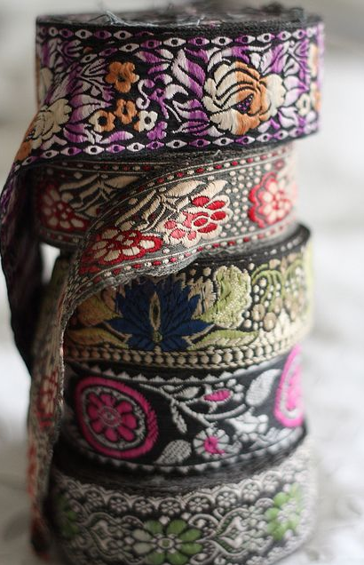 For a fun ethnic vibe, incorporate these decorative tapes from India. Via Pinterest.
