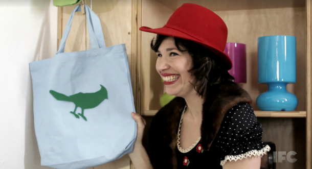 "Still from Portlandia, ""Put a Bird on It"".  Watch the video  here .  It's hysterical!"