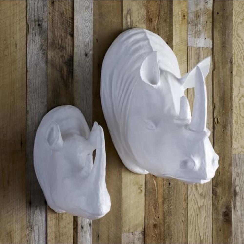 Paper art... enough said. =)  Papier Mache Animal Sculptures