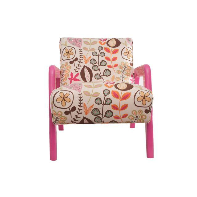 Atomic Chair in Pink Floral Pattern { VIa Chairish }