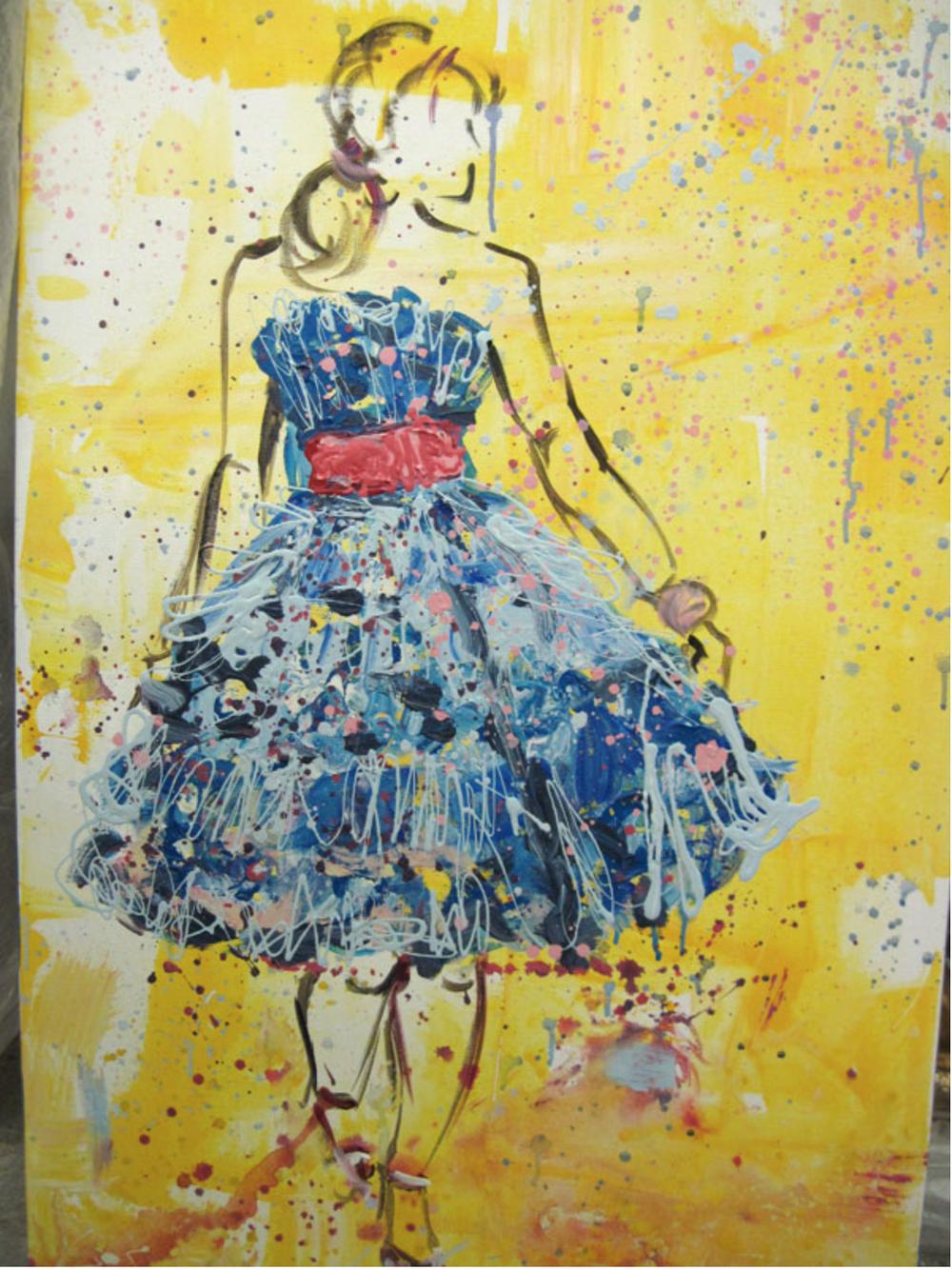 """"""" Betsey in Blue """", Maggie O'Neill Fine Art"""