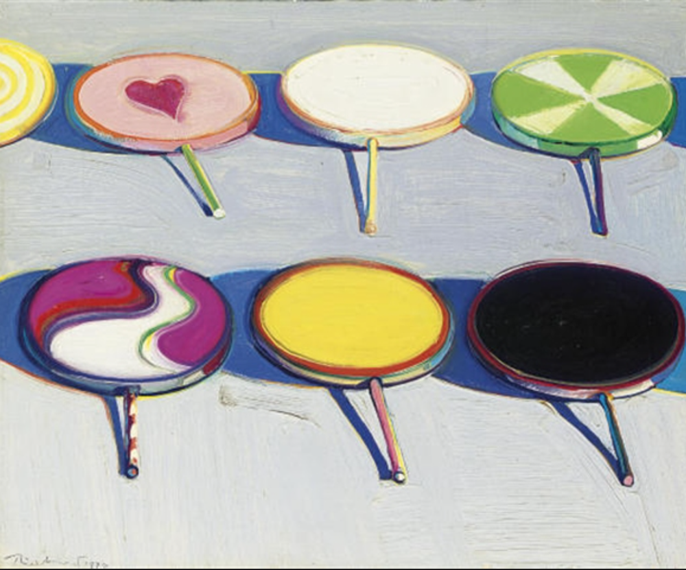 "Wayne Thiebaud, ""Seven Suckers"", 1970"