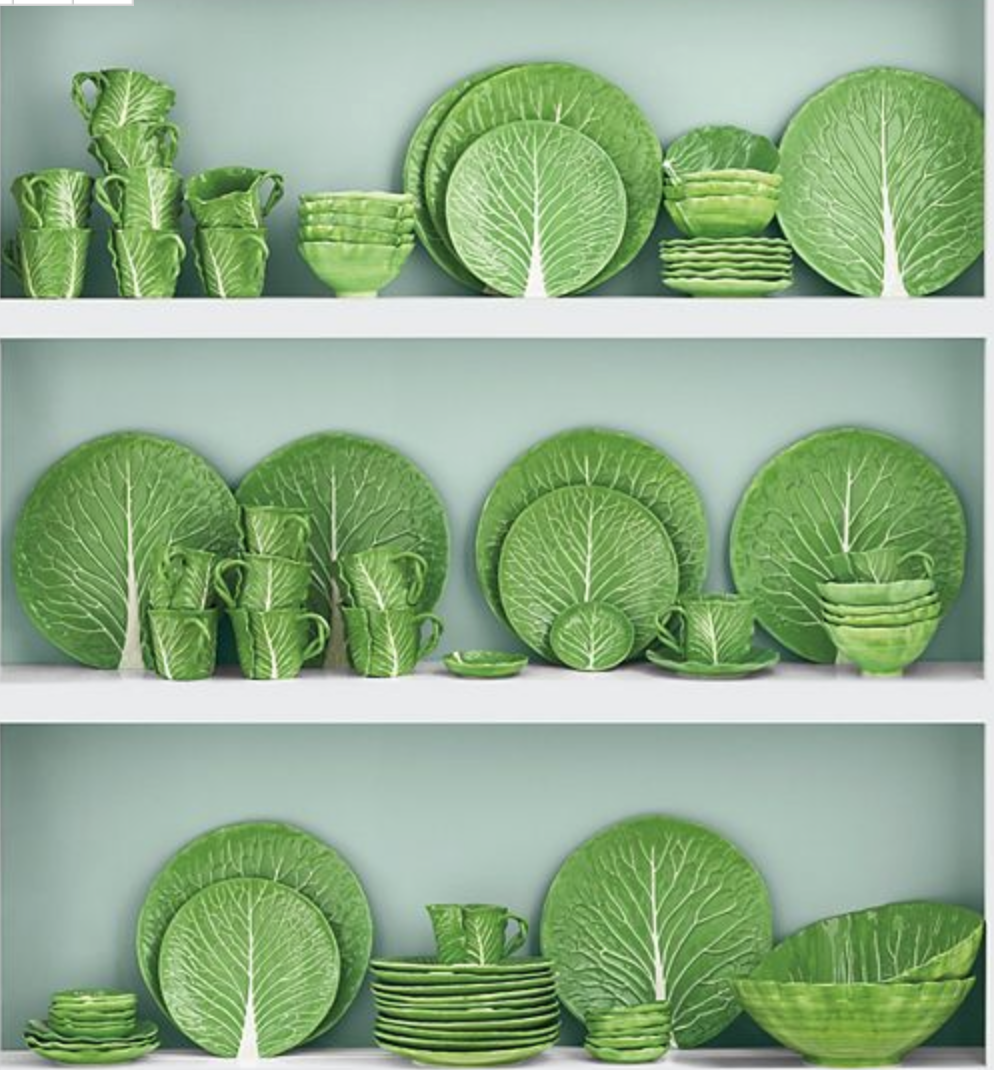 Tory Burch's new Lettuce Ware collection would be so fun!  {Via  Tory Burch}