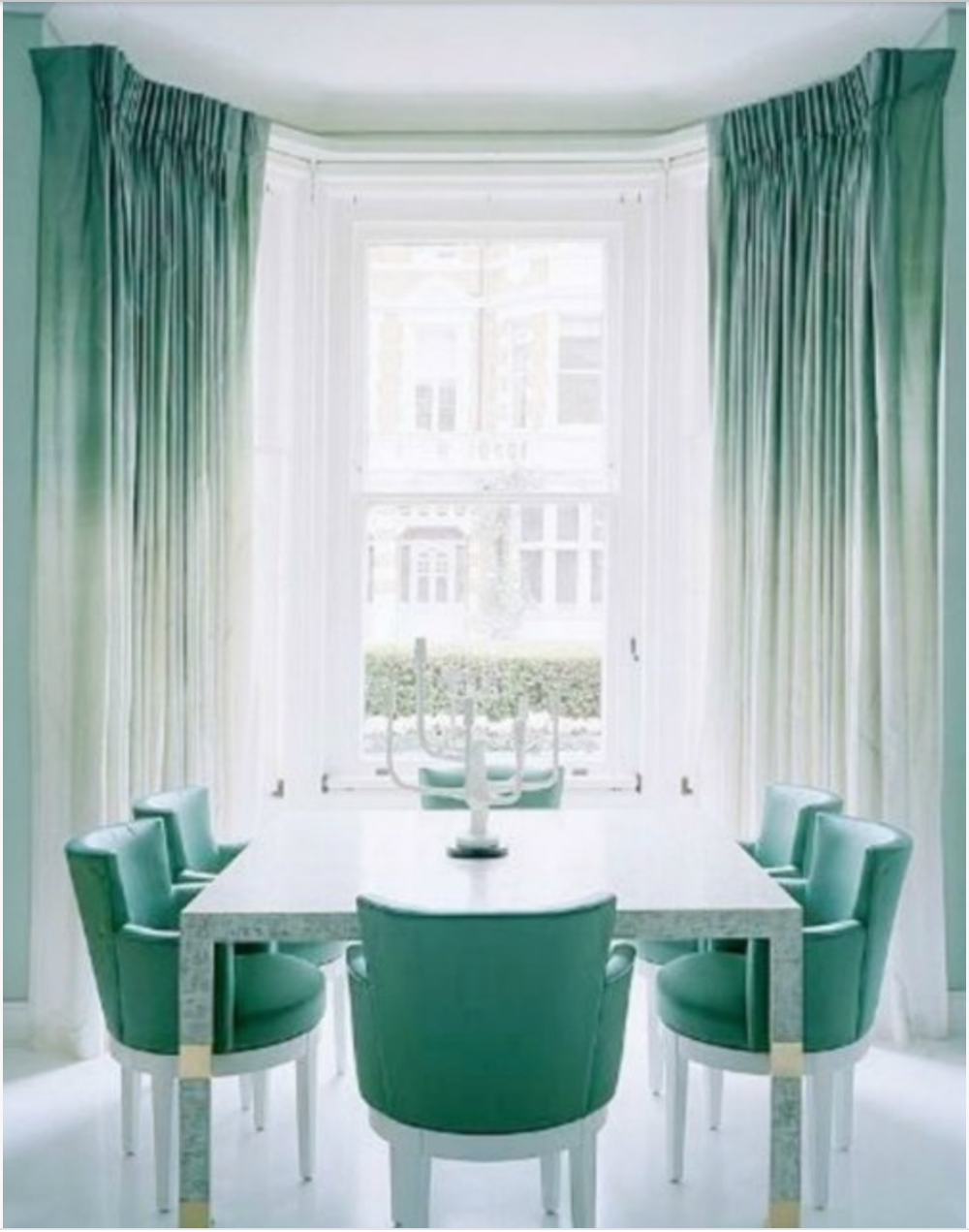 Such a soft and Zen dining room.  {Via Pinterest}
