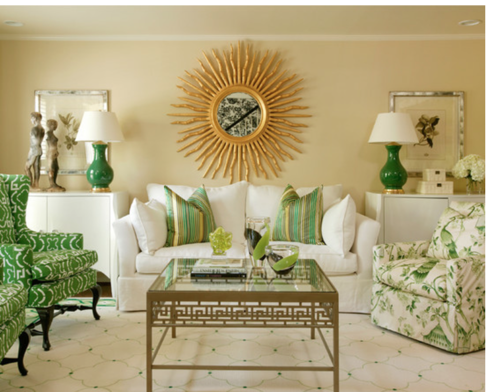 A gorgeous Tobi Fairley interior with plenty of shades of Jade.  {Via Houzz}