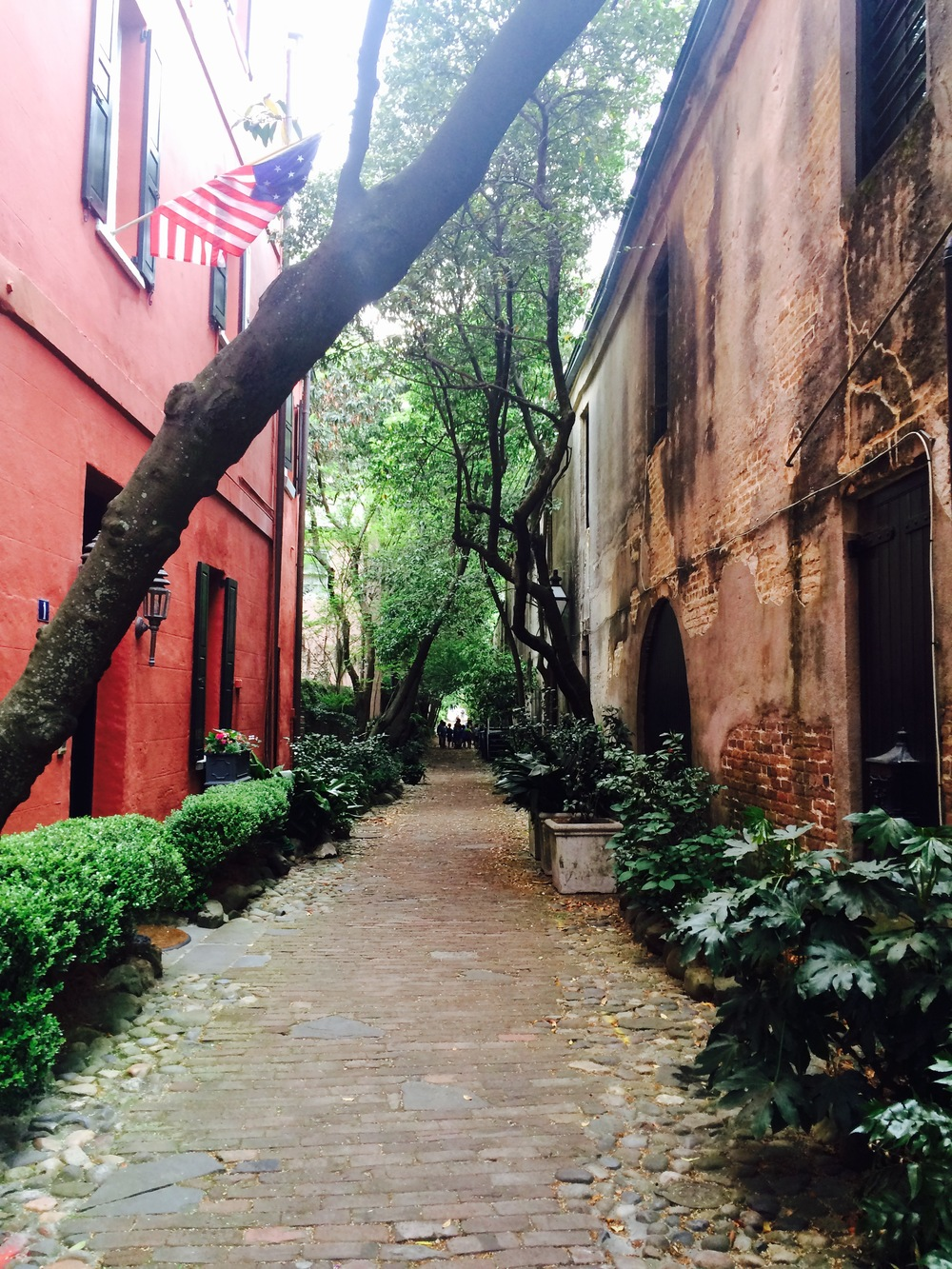 A little alleyway right off of East Bay St. in downtown Charleston.