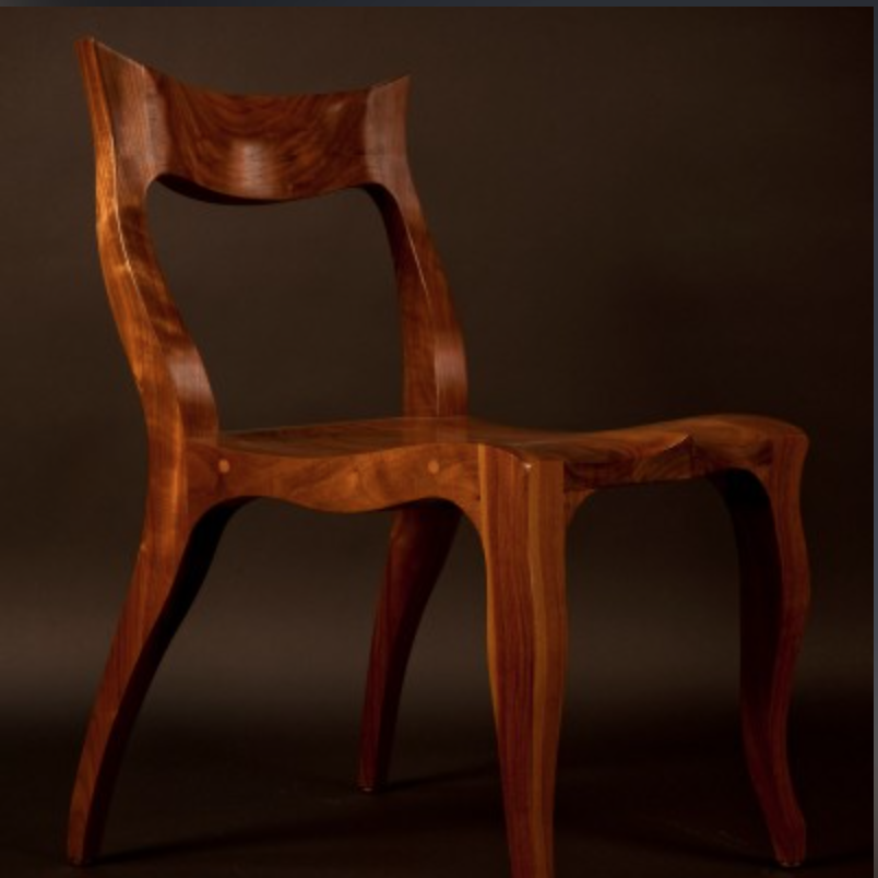 "Hand carved ""Tessa"" Chair {Via  Caleb Woodard Furniture }"
