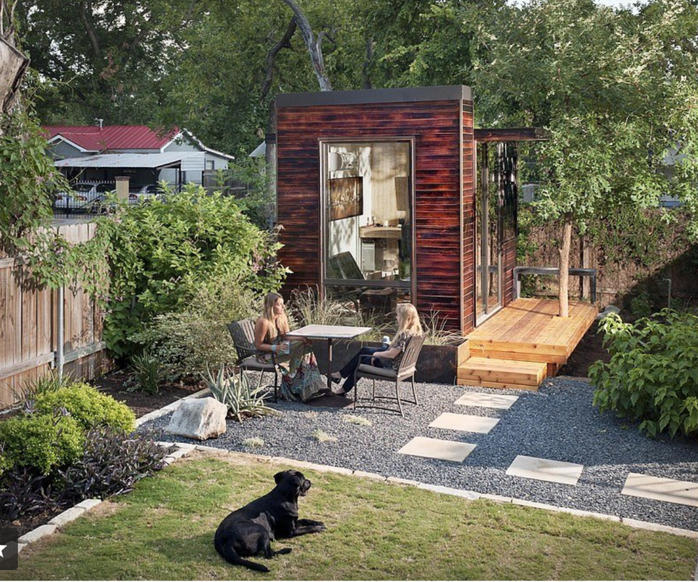 Sett Studio's  sustainably designed sheds are only 92 square feet and come standard with options like bamboo flooring.