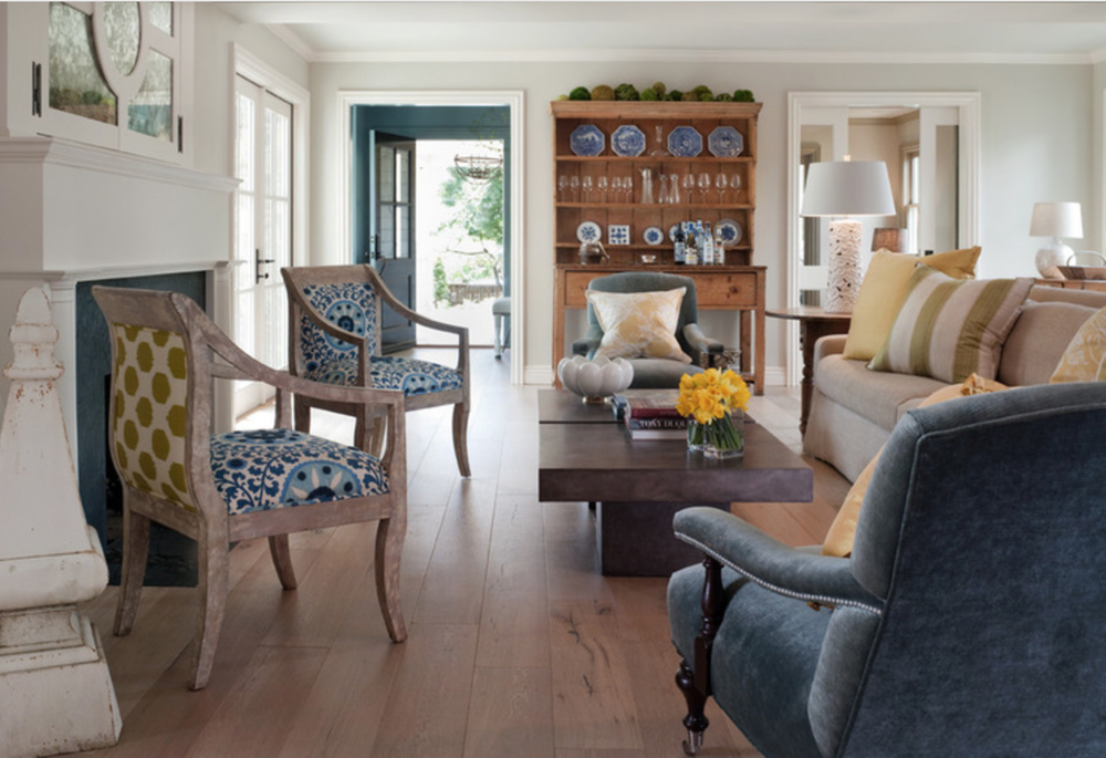 Or pattern all around! {Via Houzz}