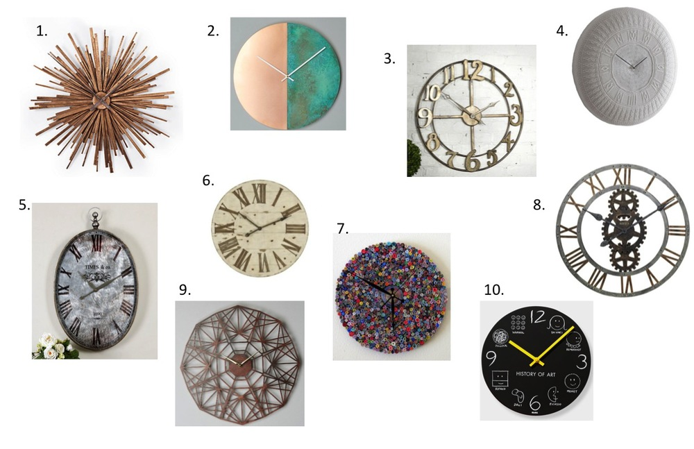 1. /  2. /  3. /  4.   A knitted clock!/  5. /  6. /  7. /  8. /  9. /  10.  Love this one for a kids' space!