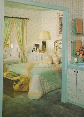 Classic 1980's wallpaper and decor. Yuck.  It was worth sacrificing the dry wall in our bathroom.  {Via Huffington Post}