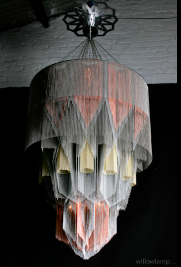 Mandala No. 1  lamp by Willow Lamp