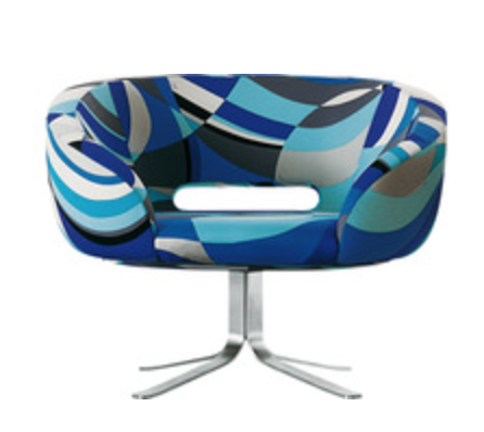 I am drooling over this Pucci fabric.  Rive Droite Chair {Via  Capellini }