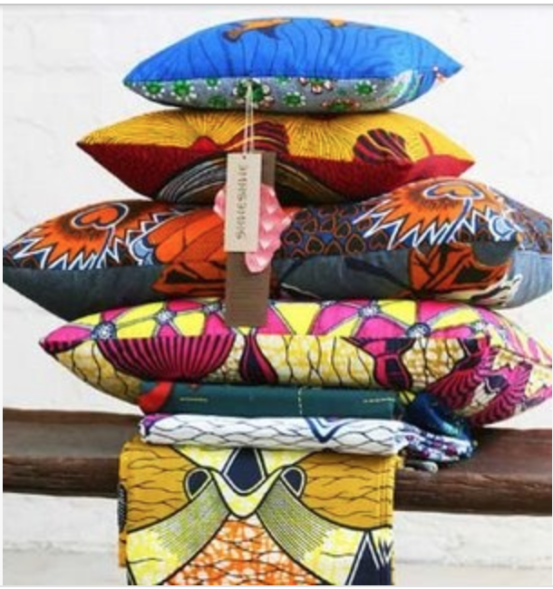 Color saturated Shweshwe pillows.  {Via Pinterest}